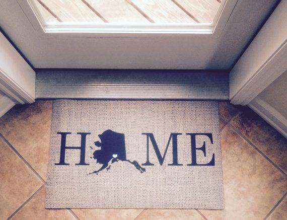 Personalized Door Mat- Monogrammed Doormat- Rugs and Mats- State Mat- Indoor Outdoor Hostess Gift Ideas    Personalized door mats welcome everyone