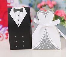50 шт. невеста и жених конфеты коробка фор свадебные приглашения(China (Mainland))