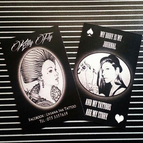 Biglietti da visita. #tattoo#tattoowork #ink #black #liviana
