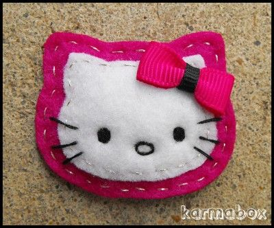 Hello Kitty Felt Hair Clips and Pins