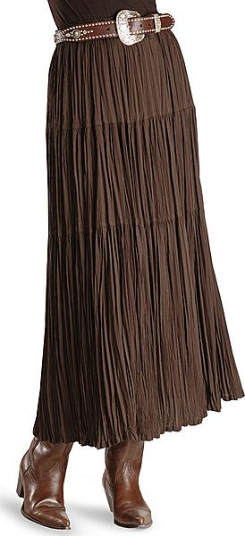 Cattlelac Broomstick Skirt - Brown I love this with the belt and boots