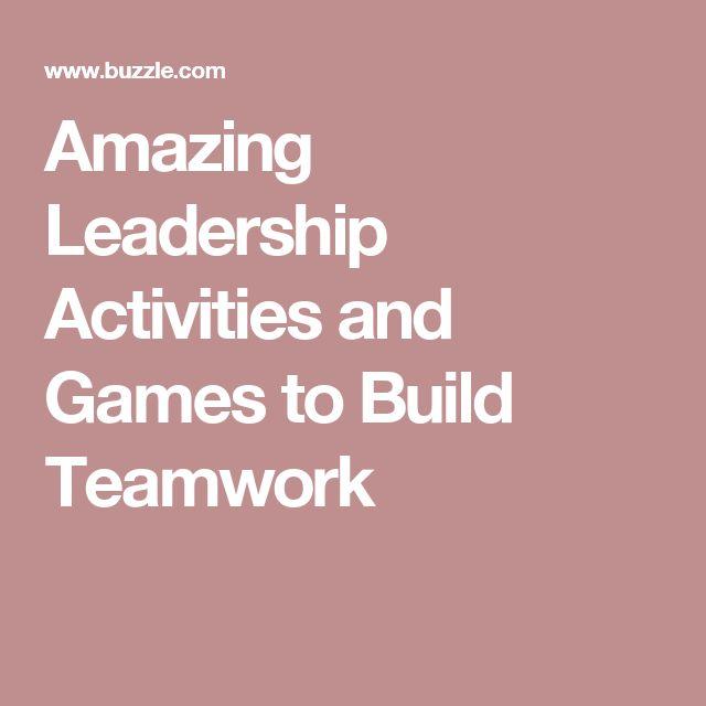 Amazing Leadership: Best 25+ Indoor Team Building Games Ideas On Pinterest