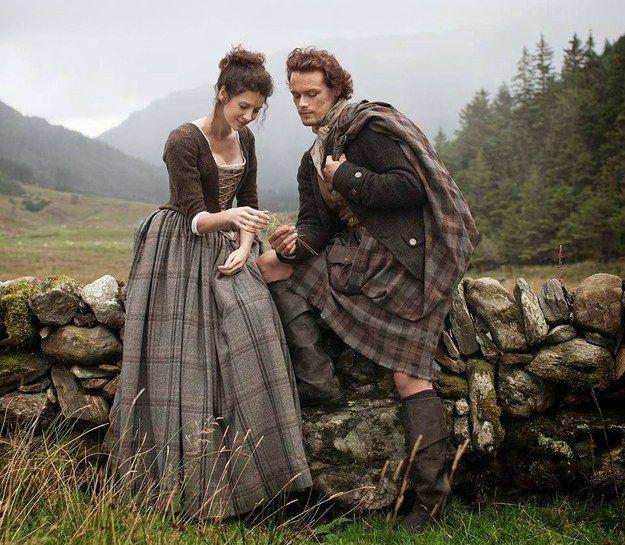 Scotland - Claire & Jamie from Diana Gabaldon's Outlander series via starz.com