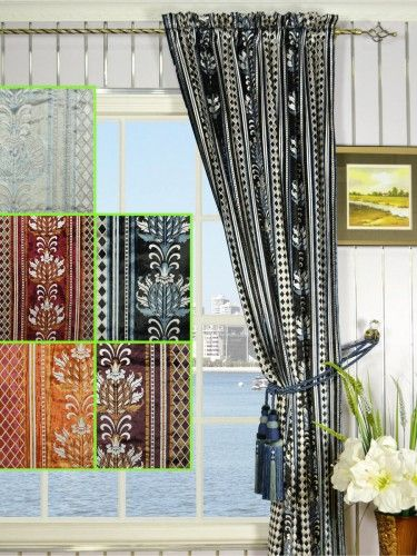 Maia Antique Damask Rod Pocket Velvet Curtains - Custom Curtains Drapes Draperies Sheers Rods and Tracks