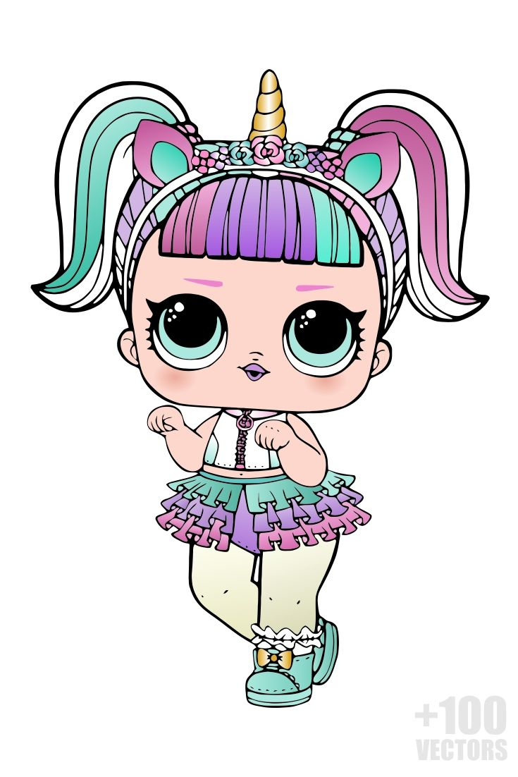 100 Lol Surprise Vectors In Cdr Png And Svg Lol Dolls Disney Princess Coloring Pages Cute Dolls