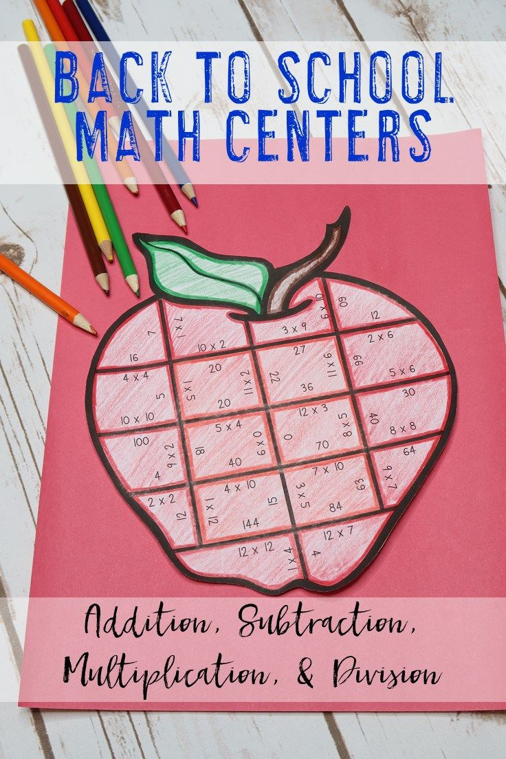 Your 1st, 2nd, 3rd, 4th, and 5th grade classroom or home school students will love being able to do math puzzles during the school year. Check out this apple puzzle for your August and September back to school needs. Your students can practice addition, subtraction, multiplication, and division math skills. Plus get a FREE download at the blog post to test out the puzzle game format. Great for math centers! {first, second, third, fourth, fifth graders, freebie, homeschool, BTS, B2S}