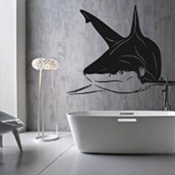 Ik1218 Wall Decal Sticker White Shark Sea Predator Fish Living Room Bathroom. 33 best Shark Bathroom images on Pinterest   Shark bathroom