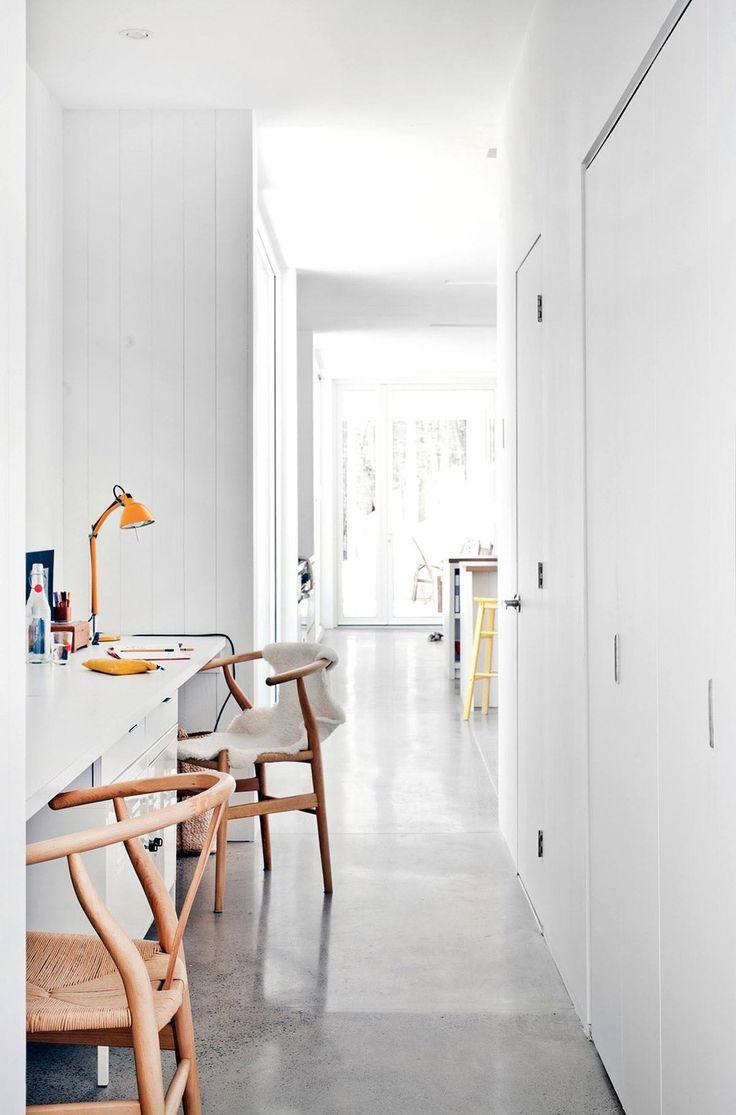 hallway office ideas. Blue Hills House / La SHED Hallway Workspace Office Ideas M