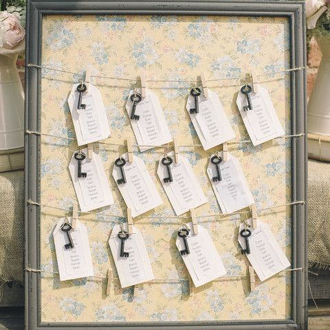 Floral Table Plan With Pegs