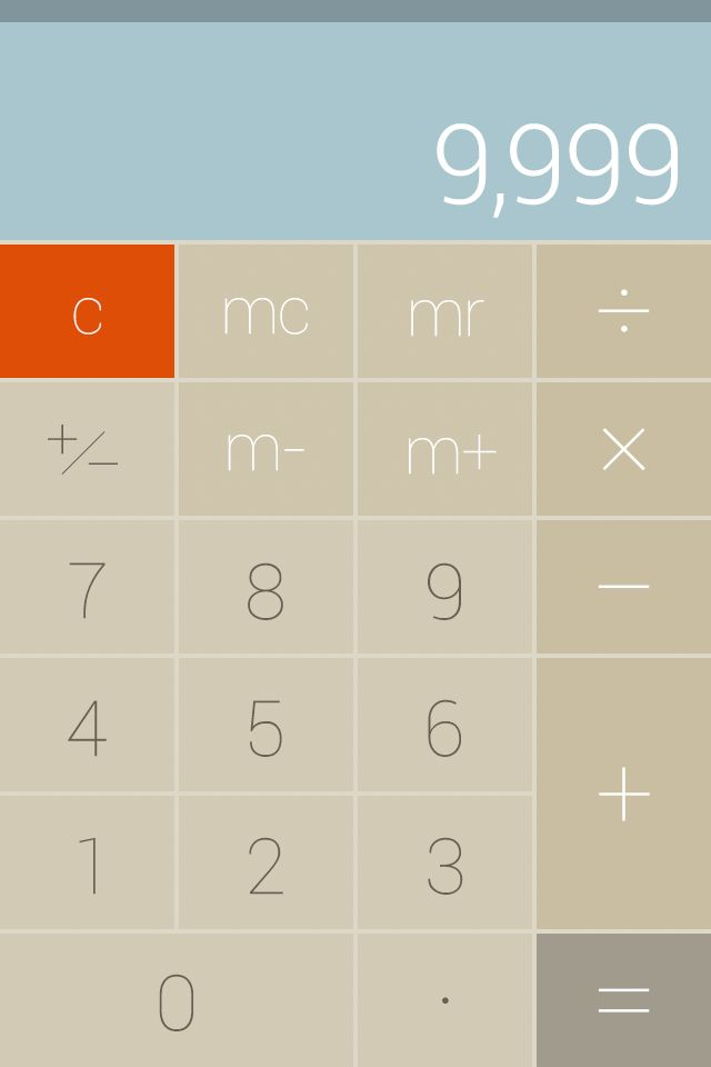 Flat ui design, simple calculator - by Mavis Wang