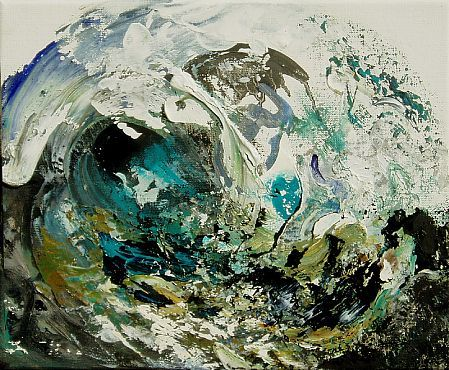 maggi hambling | Maggi Hambling - 'Summer Wave Breaking I' - DAVID CASE FINE ART
