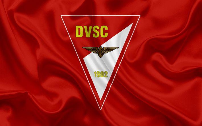 Descargar fondos de pantalla Debreceni Vasutas Sport Club, húngaro equipo de fútbol, el emblema, Debreceni logotipo, Debrecen, en Hungría, de fútbol, de la liga de fútbol de hungría
