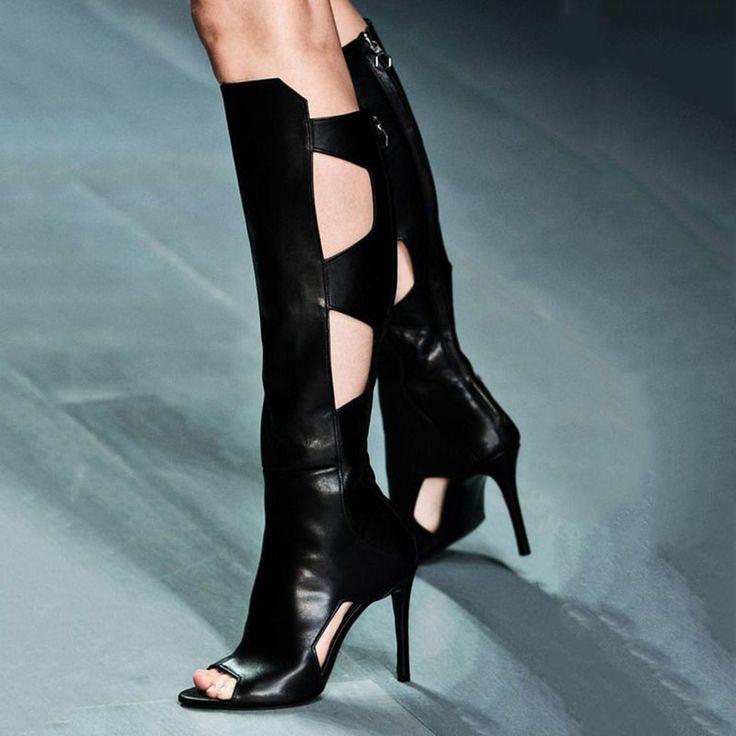 Black Gothic Knee High Boots https://ladieshighheelshoes.blogspot.com/2016/10/womens-shoes.html
