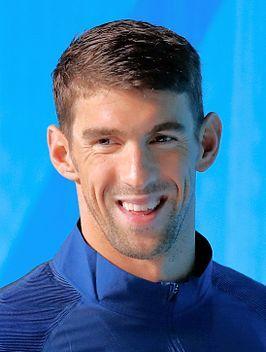 Phelps tijdens de Olympische Zomerspelen 2016