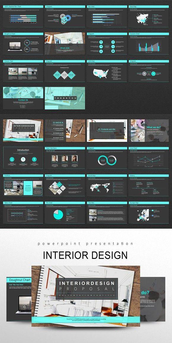 Interior Design  PowerPoint Templates | Interactive Design
