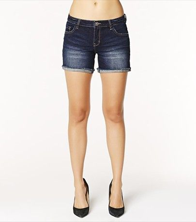 Stand out with this medium wash denim short.