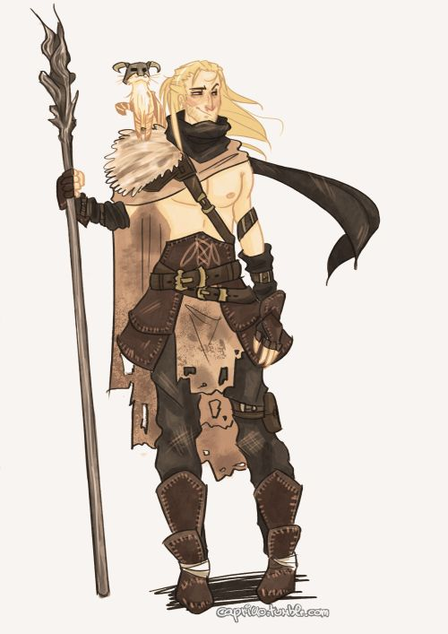 elenilote:  capriko:  A random design for Dragon Age Origins: Awakening's Anders. Stupid sexy apostate! (Ps: THE DOVAHCAT'S GOING TO KILL 'EM ALL)  Perfect