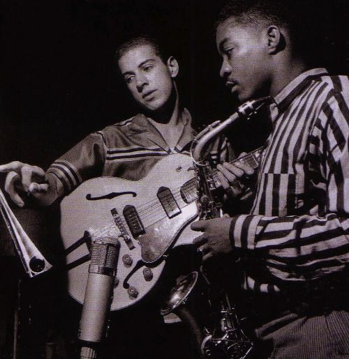 Kenny Burrell and John Jenkins from the John Jenkins with Kenny Burrell session, Hackensack NJ, August 11 1957 (photo by Francis Wolff)
