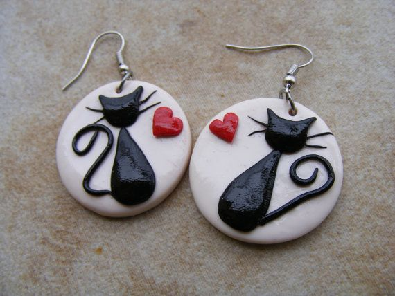 /black-cats-in-love-polymer-clay-earrings