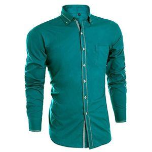 Camisa hombre manga larga,camisas hombre verde,camisa de hombre