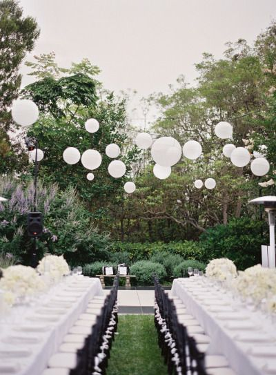 White paper lanterns: http://www.stylemepretty.com/2014/01/20/classic-pacific-palisades-wedding/ | Photography: Desi Baytan Photography - http://desibaytan.com/