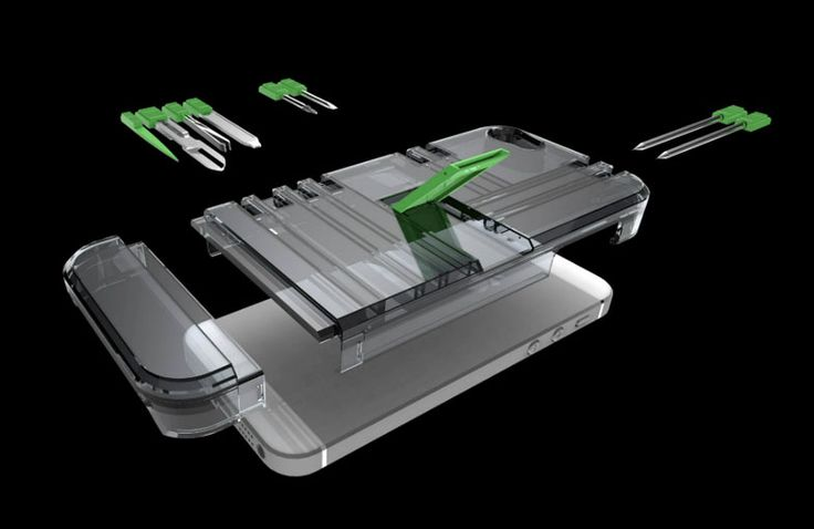 The IN1 Utility iPhone Case carries an assortment of gear to help get you through any eventful day. On-board, the case features two precision screwdrivers screwdrivers, two ball point pens, nail file, tweezers, scissors, toothpick, and a kick stand to prop your phone up on most surfaces. IN1 is TSA compliant and available in black, white, and clear. ($45)
