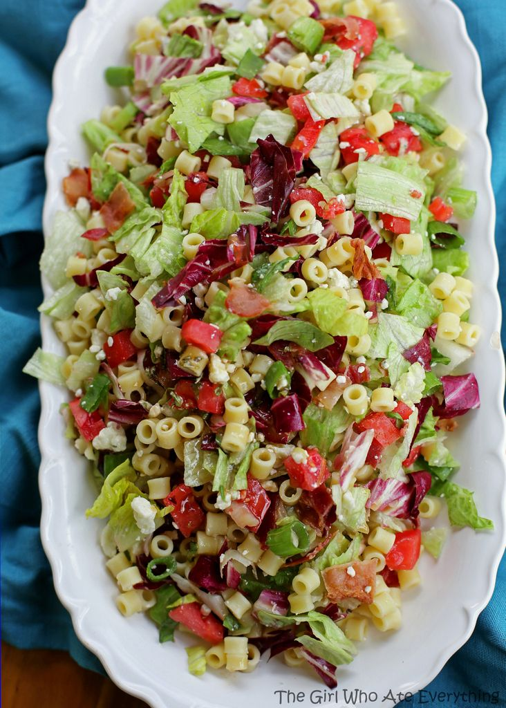 Portillo's Chopped Salad -- This was a HUGE hit at our family reunion. I bought the noodles from an Italian grocery store (Caputo's) and bought a bottle of Portillo's house dressing at Portillo's, but you can try try making the copycat dressing and let us know how you like it!