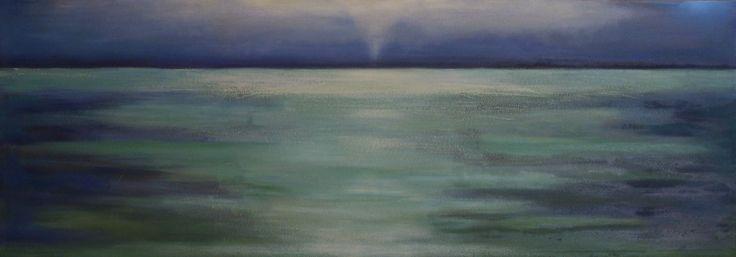 Harka Ágnes: Spuall line, 70x200 cm oil on canvas