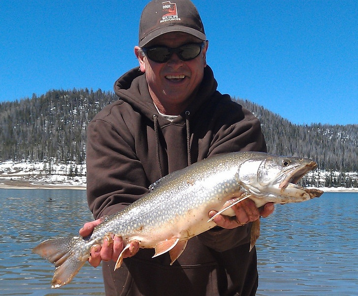 A big splake caught at navajo lake in utah splake trout for Trout fishing utah