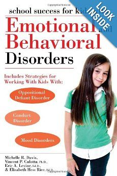 Link2....School Success for Kids With Emotional and Behavioral Disorders gives parents and teachers of students with conduct disorder, oppositional defiant disorder, mood disorders, or other emotional and behavioral disorders the strategies they need to help these kids overcome their struggles and find success in school.