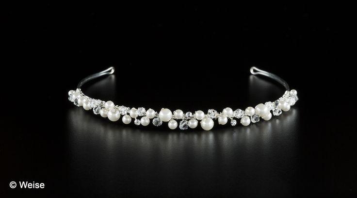 Brautdiadem mit Perlen und Strass von Weise