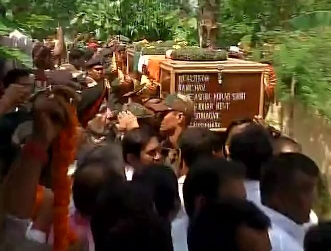 Bhojpur Bihar: Last rites of havaldar Ashok Kumar Singh who lost his life during #UriAttacks