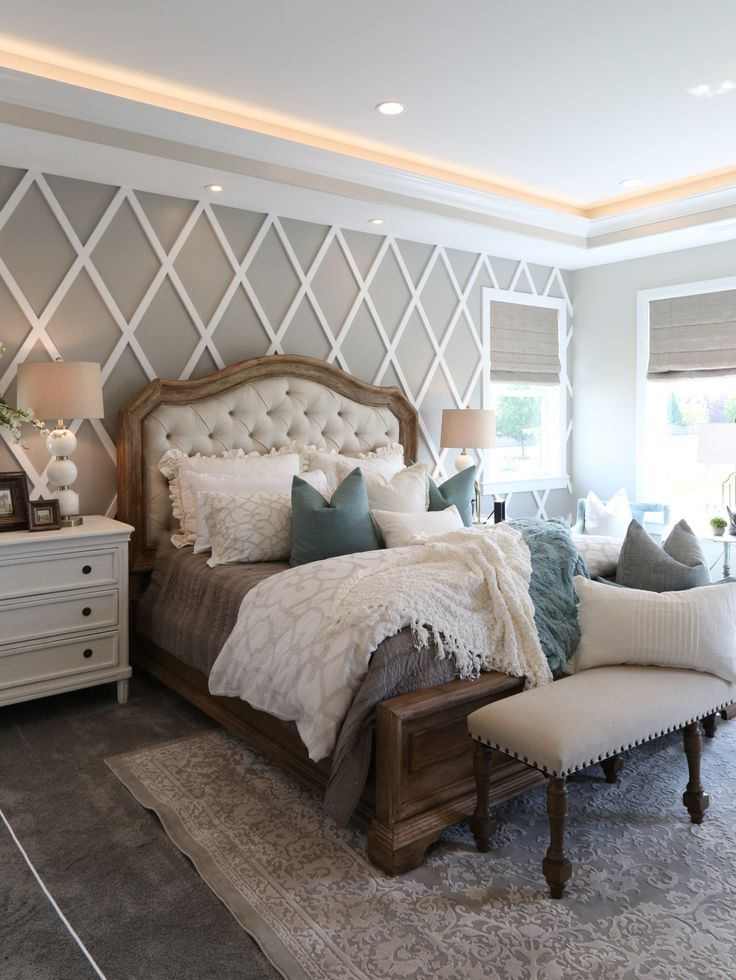 Modern French Country Bedroom interior paint