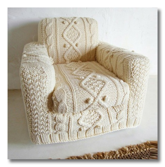 knit chair cover