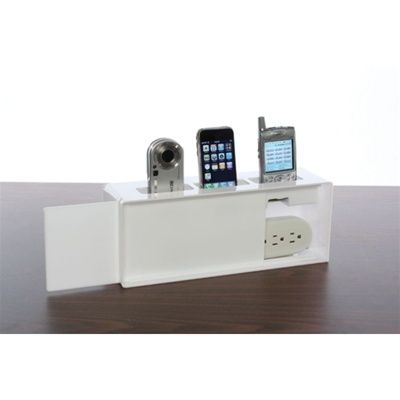 Kangaroom Storage Wall Mounted Cell Phone Charging Station   White