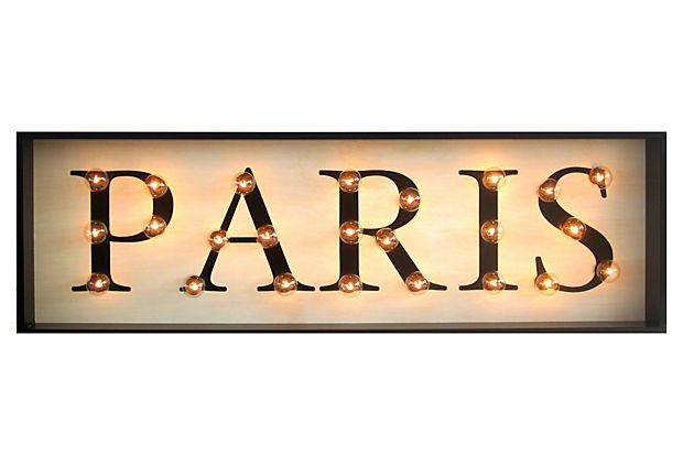 sign paris light marquee decor wall lights signs floor onekingslane lane kings 2nd name room lighted dressing console visit rooms