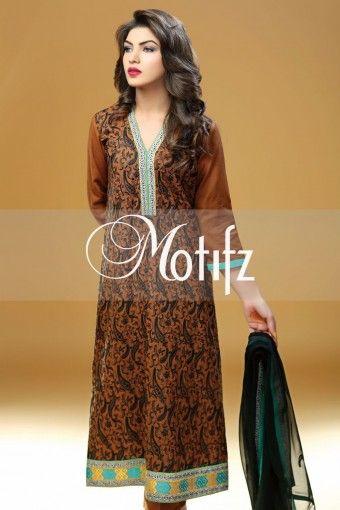 MOTIFZ PRODUCT: MWU00978-BROWN, RETAIL PRICE: 4990, ITEM TYPE: KHADDAR