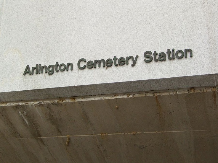 Arlington Cemetery is a Washington Metro station in Arlington, Virginia on the Blue Line.     The station is located at the entrance to Arlington National Cemetery, near Memorial Drive. There is no public parking near the station except at the cemetery, which is reserved for visitors. It is the only station that closes earlier than the rest of the system. Service began on July 1, 1977.