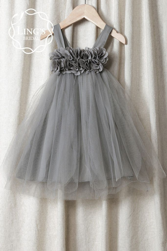 Pastel Gray Tutu Flower Girl Dress Ling S Bridal