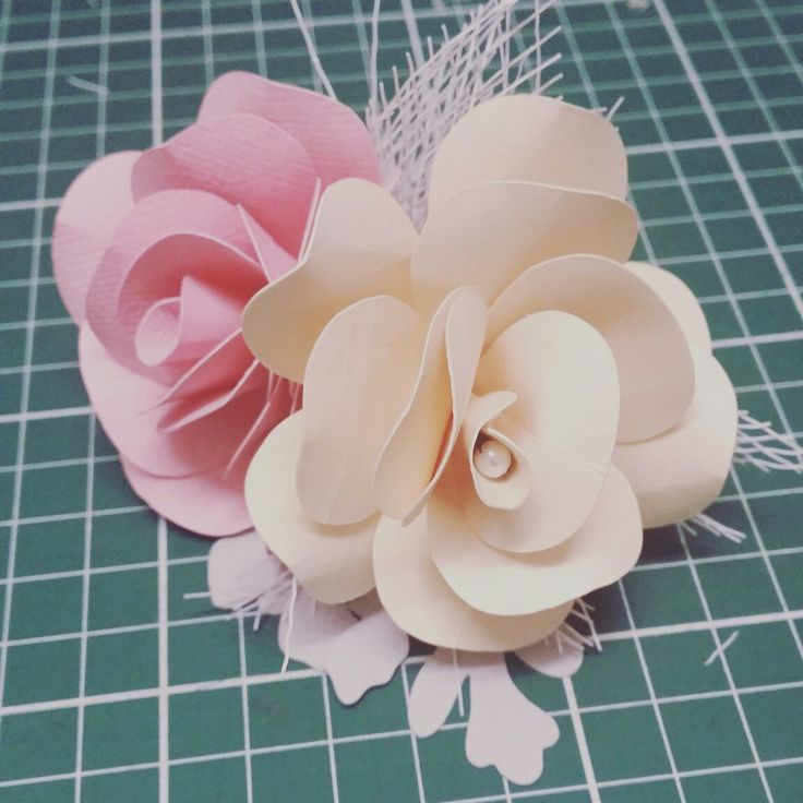 Cream and pink rose buttonhole with pearl and netting detail www.thepaperroseflorist.com.au