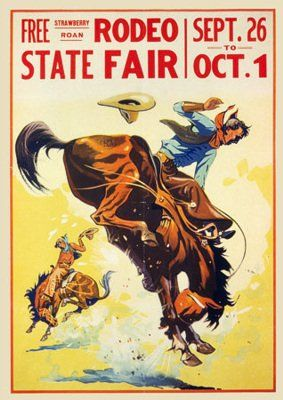 Vintage Rodeo and State Fair poster