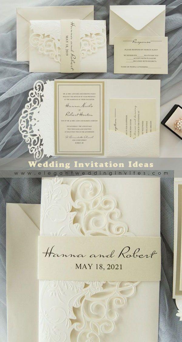 Ivory Wedding Invitations Invitations By Elegant Wedding Invites Elegantweddinginvites In 2020 Ivory Wedding Invitations Wedding Invitations Affordable Wedding Invitations