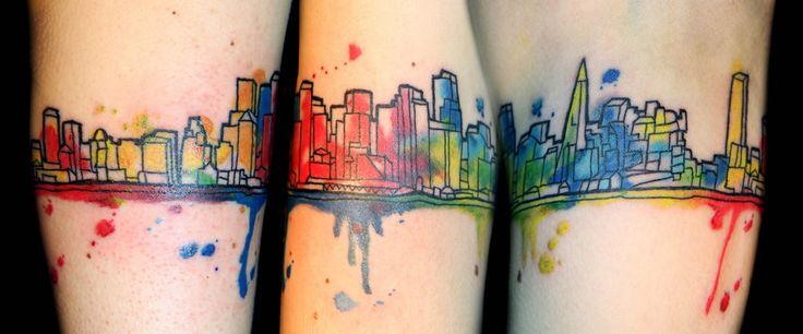 1000 ideas about skyline tattoo on pinterest london for Cleveland skyline tattoo