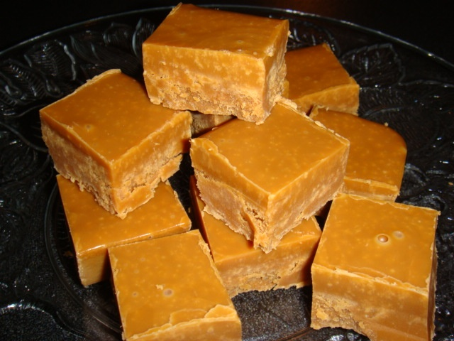 Just finished making caramel fudge. Would love to share but.........