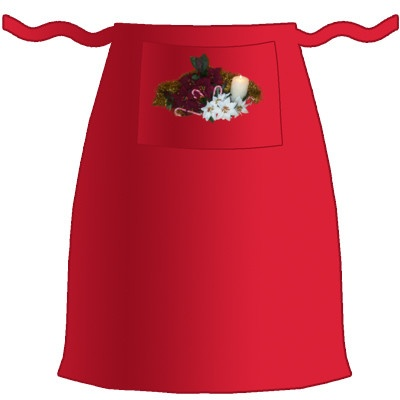 Christmas Flowers Apron Available at www.irisshirtshop.toctopus.com