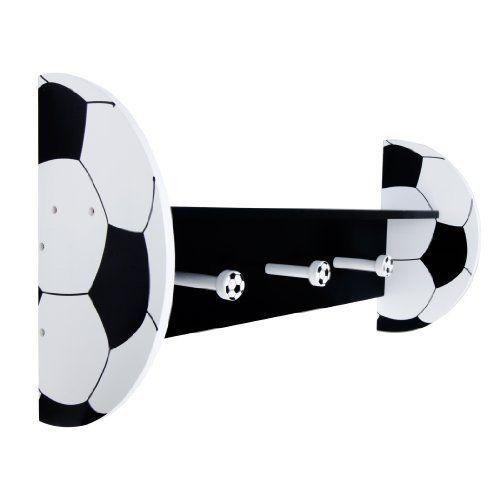 Trend Lab Soccer Wall Shelf with Pegs, Black/White, http://www.amazon.com/dp/B00CJULSJG/ref=cm_sw_r_pi_awd_U2H5rb121ZTA3
