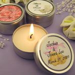 Personalized Wedding Candle Tins