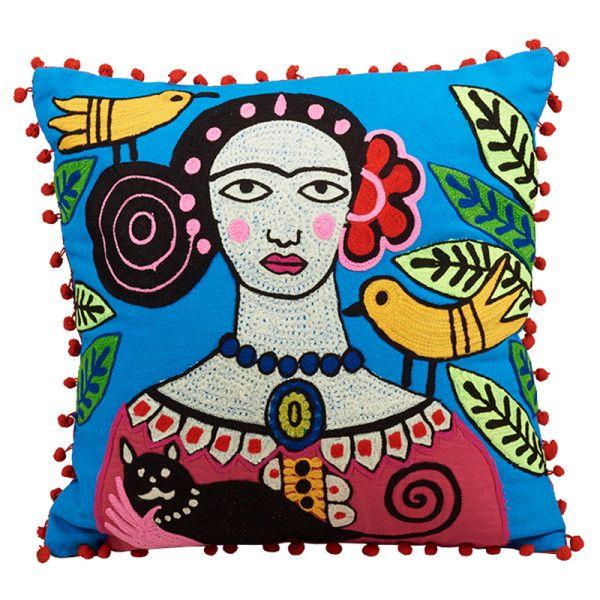 dead frida kahlo cushion 65