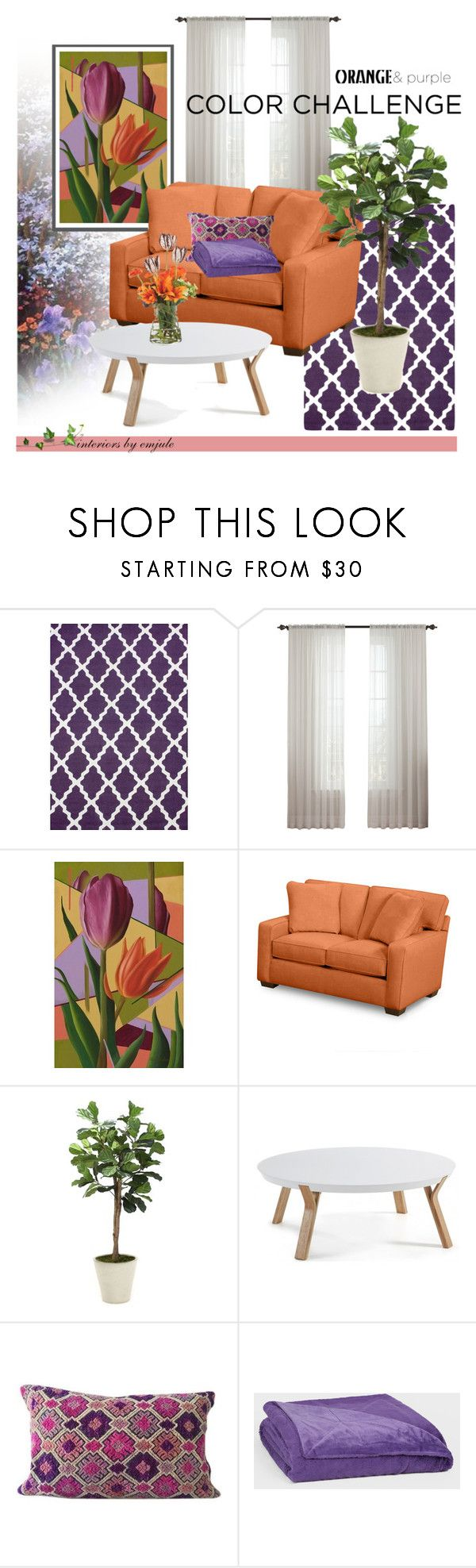 Purple And Orange By Emjule Liked On Polyvore Featuring Interior Interiors