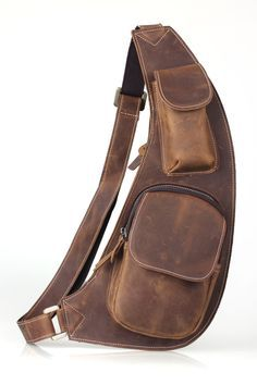 messenge bag Picture - More Detailed Picture about Men Backpack Sling Messenger Bag Cowhide Leather Hiking Sport Bag Brown NEW 3011 Free shipping Picture in Crossbody Bags from TIDING Leather Store